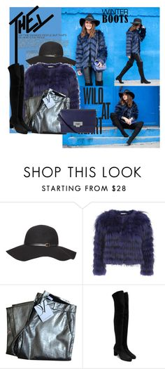 """""""Leather Feather Blues"""" by iris234 on Polyvore featuring Dorothy Perkins, Alice + Olivia, Diane Von Furstenberg, Casadei and Lodis"""