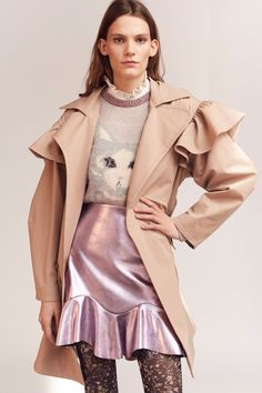 See the complete Rebecca Taylor Fall 2017 Ready-to-Wear collection  metallic skirt