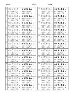 This Chess Score Sheet Can Be Used For Informal Or Tournament Play