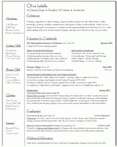sample cover letter for esthetician resume objective examples interior designer resume for teller job - Massage Therapist Resume Sample