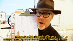 How awesome is science though? #blessed | Mythbuster Adam Savage Took The Same Photo With A Fan Five Years In A Row