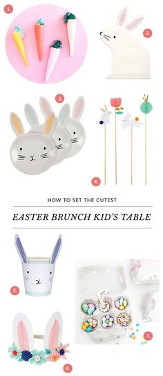 How To Set The Cutest Easter Brunch Kid's Table   The Sweet Lulu Blog   Shop Sweet Lulu