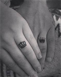 Wedding Ring Tattoos / http://www.himisspuff.com/wedding-band-ring-tattoos/6/