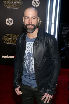 Chris Daughtry Photos Photos: Premiere of 'Star Wars: The Force Awakens' - Red Carpet Hollywood California, In Hollywood, Bald Head With Beard, Chris Daughtry, Beard Styles For Men, Bald Heads, The Beverly, Theatres, Photo L