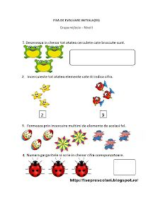Fise de lucru - gradinita: FISE de Evaluare Initiala grupa MIJLOCIE - DS - DLC - DOS Worksheets, Kindergarten, Preschool, Map, Activities, 1 Decembrie, Furniture Inspiration, Diana, Blog