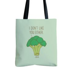 Broccoli don't like you either - tote bag | I Love Doodle - The visual art of Lim Heng Swee