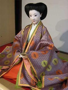 A mannequin dressed in junihitoe #heian #heiankyo #junihitoe