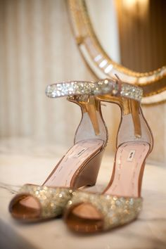 Miu Miu sparkly wedges. Need shoes like this for the Distillery.