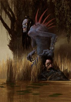 #WaterHags, Nekkers and Drowners are common monsters in The Witcher 3: Wild Hunt's world and fall in the Necrophages category. Hag sounds seems to derive from the old Germanic Haghetiss and the Hag appears in many European folk tales. In English stories there is an actual variant called Water Hag with the color of moss that drags children into the water when they get to close. #TheWitcher3 #CDprojektred