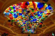12.- Techo de cristal en el Hotel Bellagio, Las Vegas.