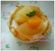「食パンカップでかんたんフルーツデザート」りおこ | お菓子・パンのレシピや作り方【corecle*コレクル】