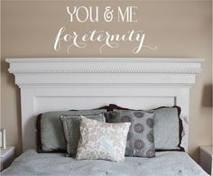 You & Me Vinyl Lettering decal bedroom love by itswritteninvinyl, $22.00