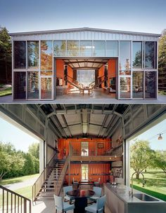 Open air storage home