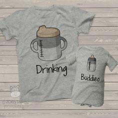 custom sibling shirts, drinking buddies twin shirt set
