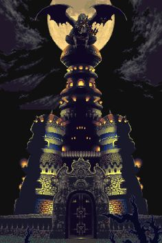Magus' Castle from Chrono Trigger, by Square