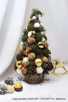 Gallery.ru / Фото #2 - Новый год 2014 - nastasya51 Pine Cone Christmas Decorations, Christmas Vases, Dollar Tree Christmas, Christmas Tree Crafts, Christmas Arrangements, Christmas Minis, Christmas Centerpieces, Christmas Wreaths, Yule Crafts