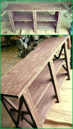 Pallet Entryway Table - 30+ Easy Pallet Ideas for the Home | Pallet Furniture DIY - Part 5