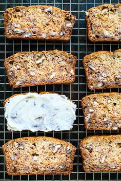 "Brown Butter Banana Bread. An easy banana bread recipe from Booby Flay's ""Brunch at Bobby's"" flavored with brown butter, honey, cinnamon and pecans. via kitchen konfidence"