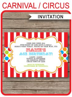 circus vintage poster template free vector circus pinterest