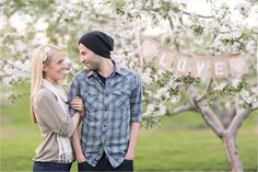Alex and Catherine - Apple Blossom Engagement Photos