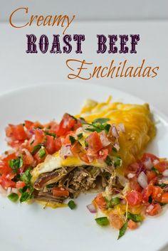Creamy Roast Beef Enchiladas on MyRecipeMagic.com
