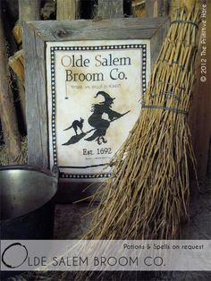 Love this and all her patterns!!! Primitive cross stitch pattern: Olde Salem Broom Co.. $14.50, via Etsy.