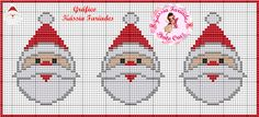 Cute Santa face X-stitch chart Xmas Cross Stitch, Just Cross Stitch, Cross Stitch Cards, Cross Stitching, Cross Stitch Embroidery, Cross Stitch Patterns, Quilted Christmas Ornaments, Plastic Canvas Christmas, Christmas Cross