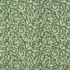 "Green Florentine Vines Italian Paper ~ Carta Varese Italy Item #: IPV805G  1 sheet measuring 19.5"" x 13.5"" of Florentine vine print paper in green."