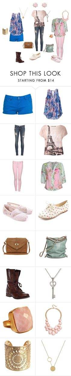 """""""Ava Sloane's Sets...."""" by stacy-williams-white ❤ liked on Polyvore featuring Rebecca Taylor, rag & bone, True Religion, Ted Baker, TOMS, Splendid, ALDO, Ina Kent, Steve Madden and GUESS"""