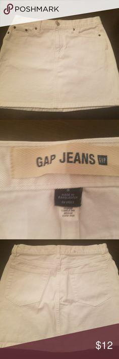 Gap Skirt Gap Denim white mini skirt,measures about 15 in long .Great condition. Skirts Mini