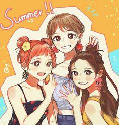 Girl Drawing Sketches, Kpop Drawings, Bts Chibi, Anime Chibi, Kpop Girl Groups, Kpop Girls, Filipino Art, Twice Fanart, Dark Art Illustrations