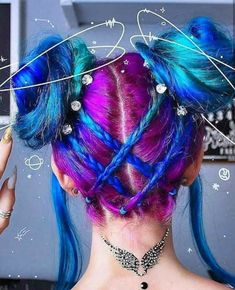 Post with 4862 votes and 155601 views. Shared by imachocobo. A hair post. Aesthetic Hair, Dream Hair, Crazy Hair, Rainbow Hair, Cool Hair Color, Hair Art, Hair Designs, Pretty Hairstyles, Hair Inspiration