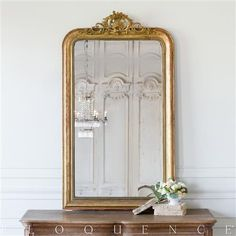 Eloquence French Country Style Antique Mirror: 1880   Kathy Kuo Home