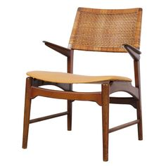 Danish Beech Arm Chair Attributed To Kurt Ostervig   From a unique collection of antique and modern armchairs at http://www.1stdibs.com/furniture/seating/armchairs/