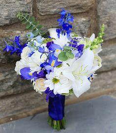 blue black white wedding flowers - Google Search