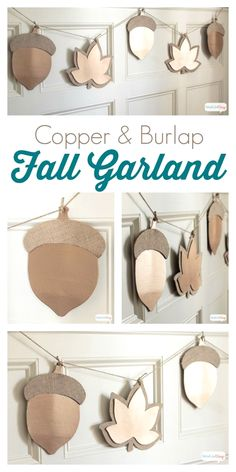 Oversized Metallic Fall Leaf Garland - Atta Girl Says Art Projects For Adults, Toddler Art Projects, Autumn Crafts, Thanksgiving Crafts, Fall Paper Crafts, Thanksgiving Banner, Fall Banner, Nature Crafts, Fall Leaf Garland