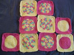 Circle in a square crochet pattern