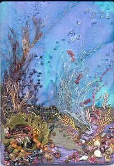 46 Super Ideas For Crazy Quilting Art Embroidery Fabric Art, Painting, Textile Art, Art