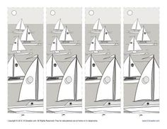 Printable Bookmarks for Kids - Boats