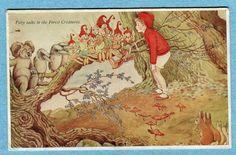 "Ida Rentoul Outhwaite postcard "" Patty Talks to the Forest Creatures"" | eBay"
