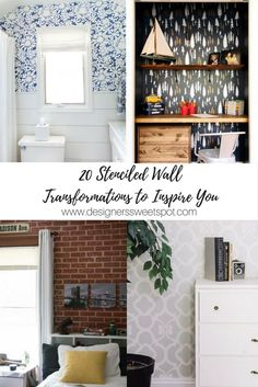 20 Stenciled Wall Transformations to Inspire You|Designers Sweet Spot|www.designerssweetspot.com