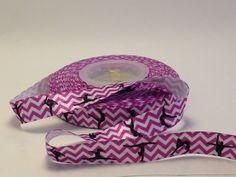 Fold Over Elastic FOE Purple Chevron Dancer by BellaandKateDesigns