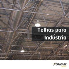 Telha metálica é a opção mais versátil para aplicações industriais. Elas podem ser utilizadas para coberturas, fechamentos laterais e construção de galpões. #FormareMetais #Construção #ObrasDeAço