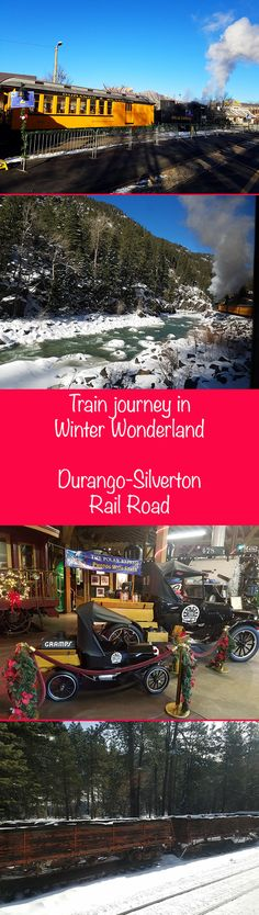 A magical train journey in a winter wonderland. Durango & Silverton Narrow Gauge Railroad is a must do while in Colorado.