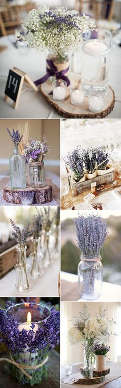 chic lavender wedding centerpiece ideas #WeddingIdeasCenterpieces