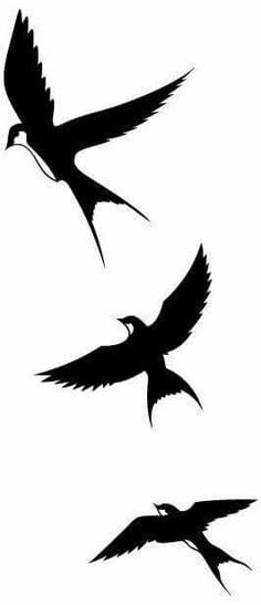 21 Ideas Tattoo Bird Swallow Silhouette For 2019 Silhouette Tattoos, Silhouette Clip Art, Dove Tattoo Design, Tattoo Designs, Vogel Silhouette, Swallow Tattoo, Rip Tattoo, Tattoo Bird, Bird Template