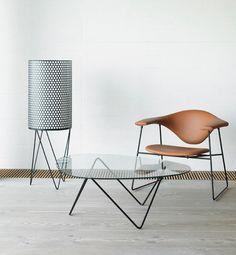 Pedrera PD2 Floor Lamp, Masculo Chair & Pedrera Table // Gubi