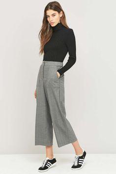 Urban Outfitters - Pantalon gris à chevrons style charpentier