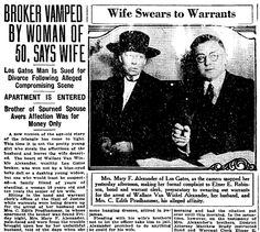 "Article about the Alexander scandal, published in the San Francisco Chronicle newspaper (San Francisco, California), 19 July 1921. Read more on the GenealogyBank blog: ""How to Find the Black Sheep of Your Family in Old Newspapers."" http://blog.genealogybank.com/how-to-find-the-black-sheep-of-your-family-in-old-newspapers.html"