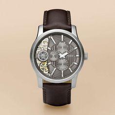 Twist Leather Watch - Brown